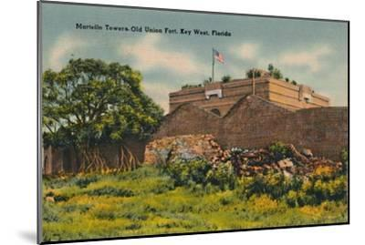 'Martello Towers Old Union Fort, Key West, Florida', c1940s-Unknown-Mounted Giclee Print