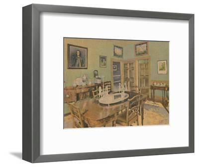 'The Family Dining Room', 1946-Unknown-Framed Giclee Print