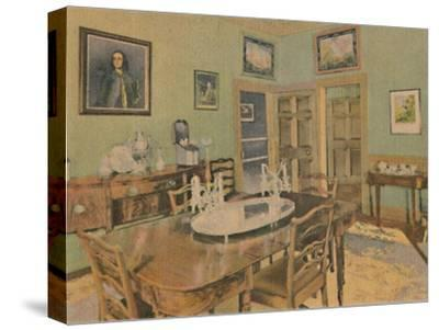 'The Family Dining Room', 1946-Unknown-Stretched Canvas Print