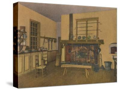 'The Family Kitchen', 1946-Unknown-Stretched Canvas Print