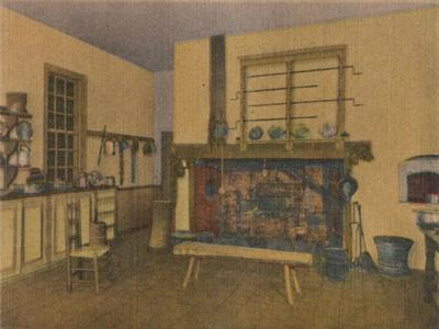 'The Family Kitchen', 1946-Unknown-Framed Giclee Print