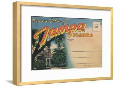 'Souvenir Folder of Tampa, Florida - University of Tampa', c1940s-Unknown-Framed Giclee Print