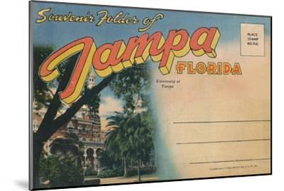 'Souvenir Folder of Tampa, Florida - University of Tampa', c1940s-Unknown-Mounted Giclee Print