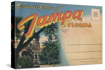 'Souvenir Folder of Tampa, Florida - University of Tampa', c1940s-Unknown-Stretched Canvas Print