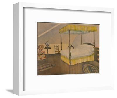 'Mrs. Washington's Bedroom', 1946-Unknown-Framed Giclee Print