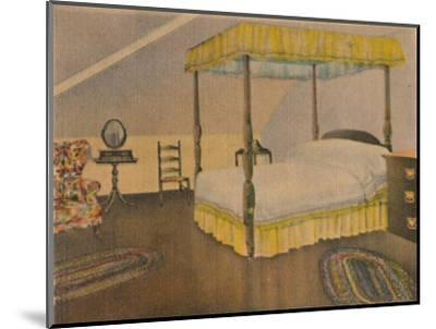 'Mrs. Washington's Bedroom', 1946-Unknown-Mounted Giclee Print