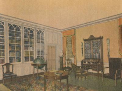 'The Library', 1946-Unknown-Framed Giclee Print