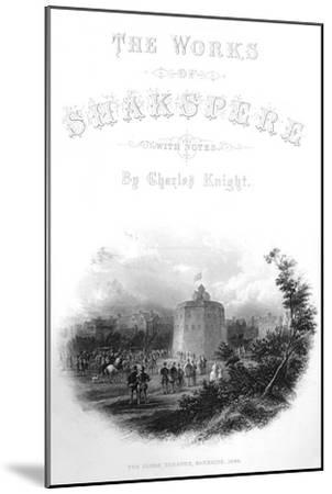 'The Works of Shakspere - The Globe Theatre, Bankside, 1593', c1870-Unknown-Mounted Giclee Print