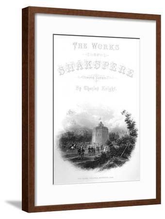 'The Works of Shakspere - The Globe Theatre, Bankside, 1593', c1870-Unknown-Framed Giclee Print