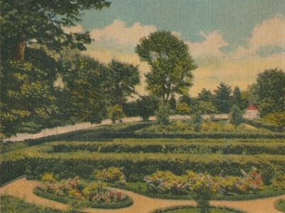 'The Flower Garden, a view of the west end', 1946-Unknown-Framed Giclee Print