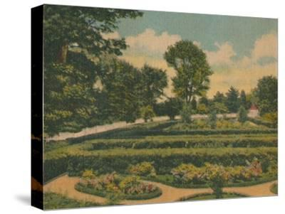 'The Flower Garden, a view of the west end', 1946-Unknown-Stretched Canvas Print