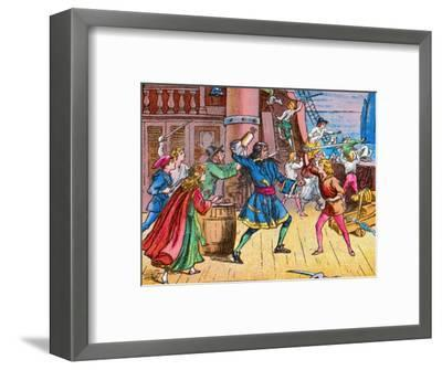 'Defeat of the pirates', c1905-Unknown-Framed Giclee Print