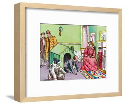 'Mr Darling in the kennel', c1905-Unknown-Framed Giclee Print