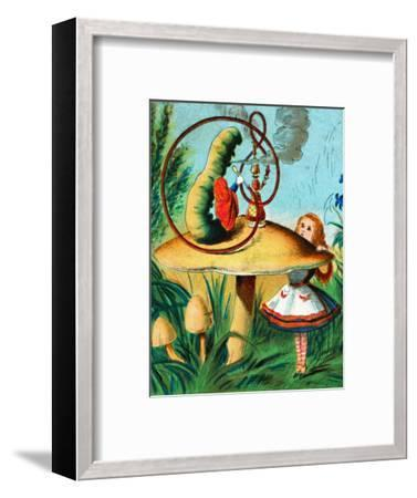 'The caterpillar on his mushroom', c1900-Unknown-Framed Giclee Print