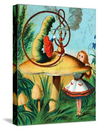 'The caterpillar on his mushroom', c1900-Unknown-Stretched Canvas Print
