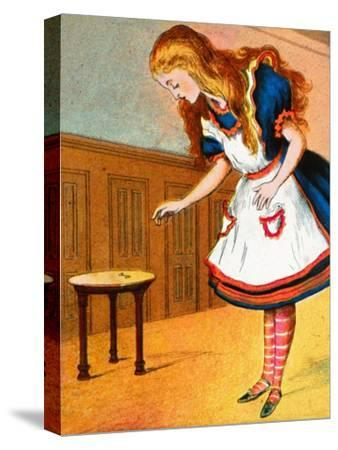 'Curiouser and curiouser, cried Alice', c1900-Unknown-Stretched Canvas Print