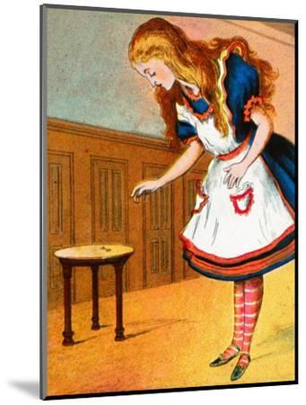 'Curiouser and curiouser, cried Alice', c1900-Unknown-Mounted Giclee Print