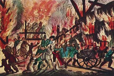 'The Burning of Moscow: 'A Grand Military and Equestrian Spectacle', 1942-Unknown-Framed Giclee Print