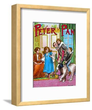 'Peter Pan - The Darlings at home', c1905-Unknown-Framed Giclee Print