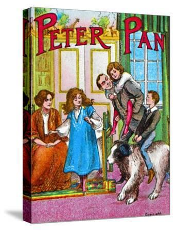 'Peter Pan - The Darlings at home', c1905-Unknown-Stretched Canvas Print