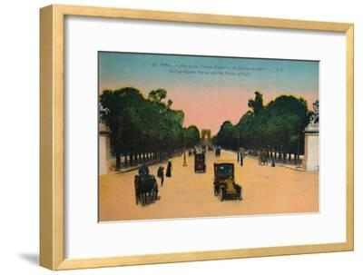 The Avenue des Champs-Elysées and the Marly Horses, Paris, c1920-Unknown-Framed Giclee Print