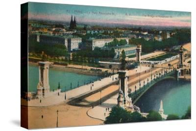 The Pont Alexandre III, Paris, c1920-Unknown-Stretched Canvas Print