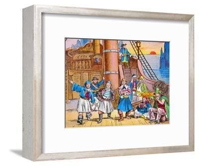 'The pirates at home', c1905-Unknown-Framed Giclee Print