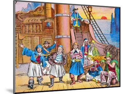 'The pirates at home', c1905-Unknown-Mounted Giclee Print