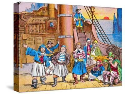 'The pirates at home', c1905-Unknown-Stretched Canvas Print