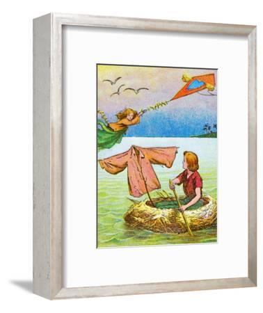 'Wendy and Peter escape', c1905-Unknown-Framed Giclee Print