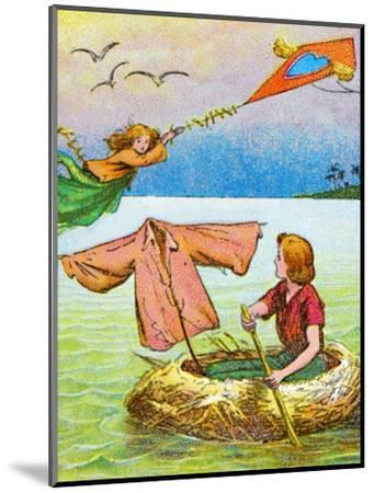 'Wendy and Peter escape', c1905-Unknown-Mounted Giclee Print