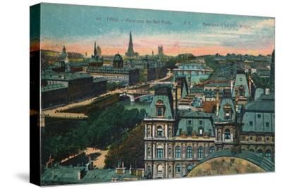 Panorama of the Eight Bridges, Paris, c1920-Unknown-Stretched Canvas Print