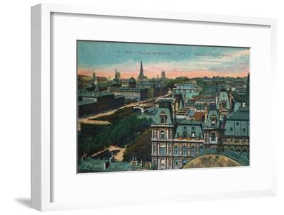 Panorama of the Eight Bridges, Paris, c1920-Unknown-Framed Giclee Print
