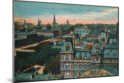 Panorama of the Eight Bridges, Paris, c1920-Unknown-Mounted Giclee Print