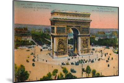 The Arc de Triomphe and Tomb of the Unknown Soldier, Paris, c1920-Unknown-Mounted Giclee Print