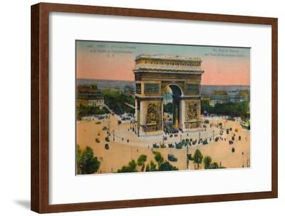 The Arc de Triomphe and Tomb of the Unknown Soldier, Paris, c1920-Unknown-Framed Giclee Print