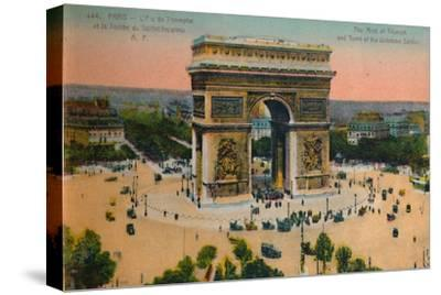 The Arc de Triomphe and Tomb of the Unknown Soldier, Paris, c1920-Unknown-Stretched Canvas Print