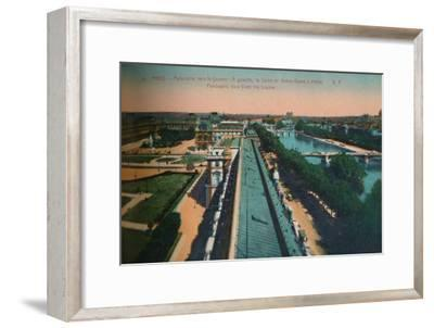 Panoramic view towards the Louvre, Paris, c1920-Unknown-Framed Giclee Print