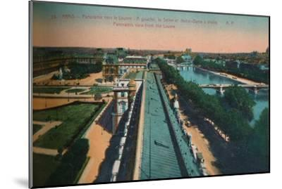 Panoramic view towards the Louvre, Paris, c1920-Unknown-Mounted Giclee Print