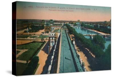 Panoramic view towards the Louvre, Paris, c1920-Unknown-Stretched Canvas Print
