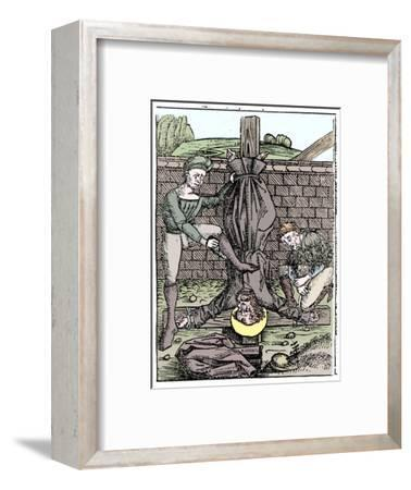 Martyrdom of St Peter, Rome, c64 (1493)-Unknown-Framed Giclee Print