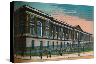 The Louvre Palace colonnade, Paris, c1920-Unknown-Stretched Canvas Print