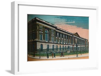 The Louvre Palace colonnade, Paris, c1920-Unknown-Framed Giclee Print