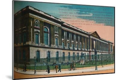 The Louvre Palace colonnade, Paris, c1920-Unknown-Mounted Giclee Print