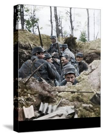 French troops in the trench system of Calonne, France, July 1915-Unknown-Stretched Canvas Print