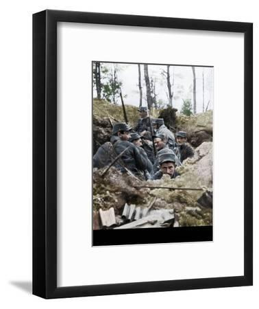 French troops in the trench system of Calonne, France, July 1915-Unknown-Framed Giclee Print