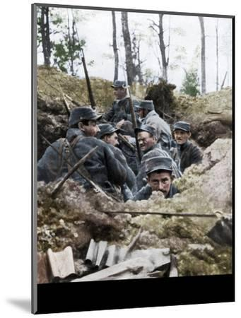 French troops in the trench system of Calonne, France, July 1915-Unknown-Mounted Giclee Print