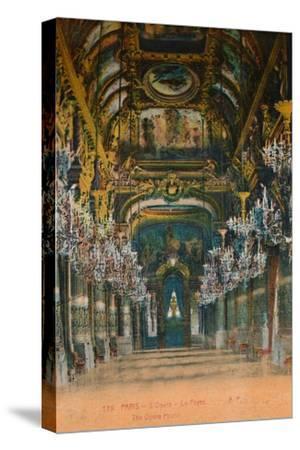 L'Opéra Garnier - the foyer, Paris, c1920-Unknown-Stretched Canvas Print