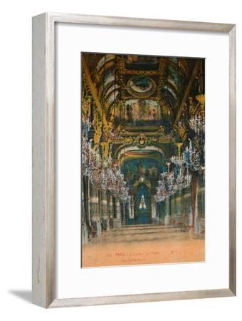 L'Opéra Garnier - the foyer, Paris, c1920-Unknown-Framed Giclee Print