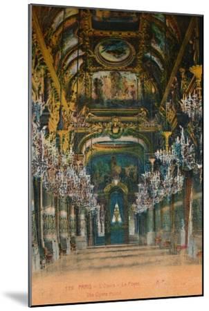 L'Opéra Garnier - the foyer, Paris, c1920-Unknown-Mounted Giclee Print